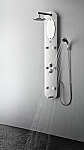 Novara PVC Silver Shower Massage Panel