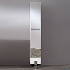 74 inch Mirrored Bathroom Linen Side Cabinet