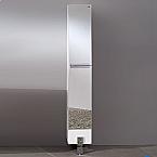 74 inch Mirrored Bathroom Linen Side Cabinet