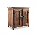 """36"""" Handcrafted Reclaimed Elm Solid Wood Single Bath Vanity Natural Finish"""