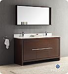 """60"""" Bathroom Vanity Wenge Dark Brown Finish"""