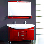 Aber Contemporary 48 inch Double Sink Bathroom Vanity Set