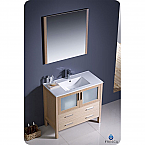 "30"" Light Oak Modern Bathroom Vanity"