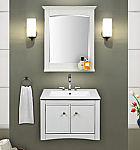 24 inch Wall Mounted Bathroom Vanity Whitewash Finish