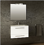 31 inch Wall Mounted White Modern Bathroom Vanity