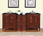 Accord Antique 83 inch Double Sink Bathroom Vanity Antiqued Cherry Finish
