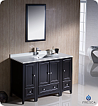 "Fresca Oxford 54"" Traditional Bathroom Vanity Espresso Finish"