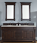 "James Martin Brookfield Collection 72"" Double Vanity, Burnished Mahogany"