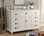 49 inch Adelina Antique Bathroom Vanity White Finish