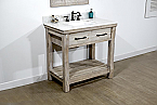 "36"" Rustic Solid Fir Single Sink Vanity with Marble Top Options"