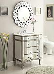 30 inch Adelina Mirrored Bathroom Vanity Cabinet
