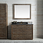 48 inch Fir Wood Bathroom Vanity Moon Stone Countertop