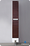 74 inch Dark Walnut Bathroom Linen Side Cabinet