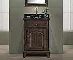 24 inch Antique Bathroom Vanity English Chestnut Finish
