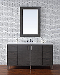 "James Martin Metropolitan Collection 60"" Single Vanity, Silver Oak"