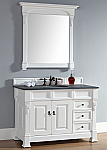 Abstron 48 inch White Finish Single Traditional Bathroom Vanity Optional Countertop