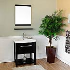 Bella 27 inch Single Sink Bathroom Vanity White Ceramic Top