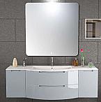 Anity 57 inch Modern Floating Bathroom Vanity Grey Finish