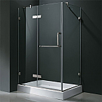 "Vigo VG06011 Frameless Rectangular Shower Enclosure 36"" x 48"""