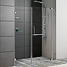 Vigo 60 inch Frameless Shower Door Chrome Finish