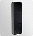 Black Bathroom Linen Cabinet 3 Large Storage Areas