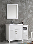 "42"" White Traditional Bathroom Vanity in Faucet Option"