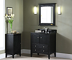 "30"" Traditional Bathroom Vanity Brown Ebony Finish"