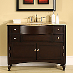 Accord Contemporary 45 inch Solid Rich Dark Walnut Bathroom Vanity