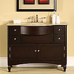 Accord Contemporary 45 inch Solid Rich Dark Walnut Bathroom Vanity