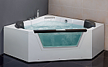 "EAGO 59"" Luxury Clear Glass Corner Whirlpool Hot Spa"
