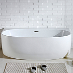 Abana 58'' x 33'' White Oval Soaking Free-Standing Bathtub