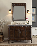 42 inch Adelina Antique Bathroom Vanity White Marble Counter Top