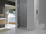 "DreamLine 72"" X 32"" Radiance Frameless Shower Door, Chrome or Brushed Nickel finish"
