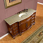 Accord Antique 60 inch Bathroom Vanity Granite Top