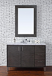 Abstron 48 inch Silver Oak Finish Single Modern Bathroom Vanity Optional Countertop