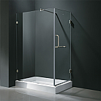 "Vigo VG06012 Frameless Rectangular Shower, Available 36"" x 48"""