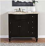 Accord Contemporary 26 inch Traditional Single Sink Bathroom Vanity Travertine Top