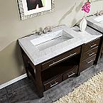 Art Silkroad 56 inch Moduler Bathroom Vanity White Carrara Marble Top