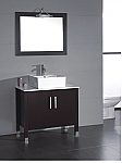 Aber Contemporary 36 inch Porcelain Vessel Sink Bathroom Vanity