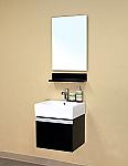 Bella 20 inch Bathroom Vanity Dark Espresso White Ceramic Top