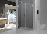 "DreamLine 72"" X 53"" Radiance Frameless Shower Door, Chrome or Brushed Nickel finish"
