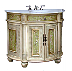 Adelina 41 inch Antique Hand Painted Bathroom Vanity