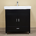 Bella 31 inch Black Finish Single Sink Bathroom Vanity