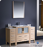"Fresca Torino 54"" Light Oak Modern Bathroom Vanity"