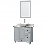 "Acclaim 36"" Single Bathroom Vanity in Oyster Gray with Countertop, Sink, and Mirror Options"