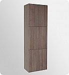 Gray Oak Bathroom Linen Cabinet 3 Large Storage Areas