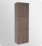 Gray Oak Bathroom Linen Cabinet 3 Large Storage Areas