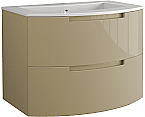 Anity 29 inch Modern Floating Bathroom Vanity Sand Glossy Finish