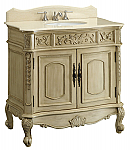 37 inch Adelina Antique White Bathroom Vanity