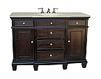 Adelina 50 inch Antique Bathroom Vanity Dark Espresso Finish